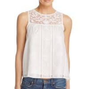 Joie Irene Blouse Top White Embroidered Women's M